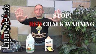 Decorative Concrete Quick Tip - Red Chalk