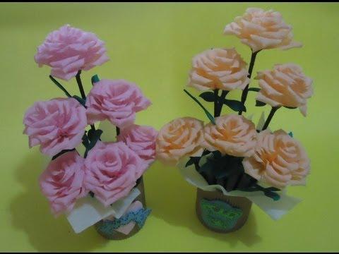 arreglo de flores - Hola de nueva cuenta, les traigo esta vez un tutorial de como hacer un arreglo floral fácil y sencillo :) Plantilla: http://bit.ly/1gHWcuz Facebook: http://o...