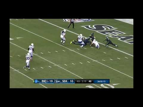The worst snap in football history!   Indianapolis Colts failing snap at Seahawks