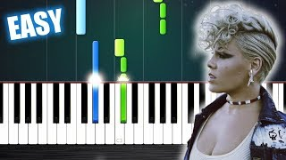 Video P!nk - What About Us - EASY Piano Tutorial by PlutaX MP3, 3GP, MP4, WEBM, AVI, FLV Juni 2018