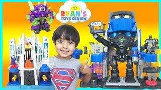 Batman Imaginext Toys Robo Batcave Superman Hall of Justice