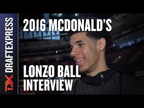 Lonzo Ball - 2016 McDonald's All American Interview