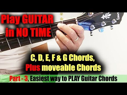 Easy way to play Guitar Chords (C to G) -HD: Part - 3