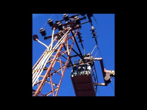 Çağlayan Elektrik Bilecik Ayrıcı direği - durdurucu direği 36kV çalışması