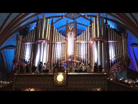 Pipe Organ at Notre-Dame Cathedral in Montreal Canada