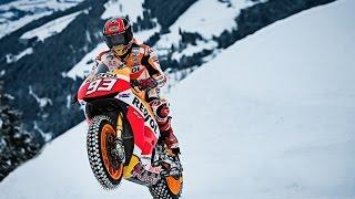 Video Marc Marquez con su MotoGP por la nieve de Austria MP3, 3GP, MP4, WEBM, AVI, FLV Desember 2018