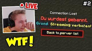 Wir bannen 4 Streamer in ihrem Livestream mit Admin Rechten #2 (Minecraft Trolling)!