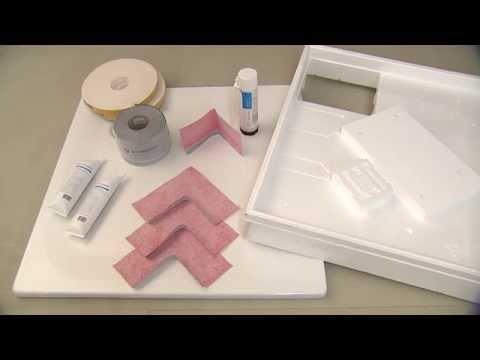 Montage Duschwanne, Duschwannenträger, Poresta 3D Abdichtung