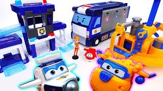 Video Super Wings New Playset Arrived~! Paul's Police Station & Donnie's Fix It Garage - ToyMart TV MP3, 3GP, MP4, WEBM, AVI, FLV Desember 2017