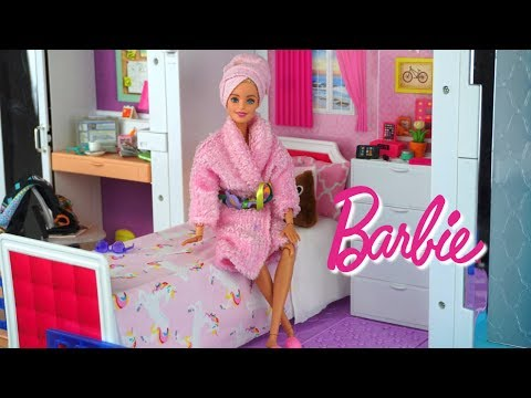 Barbie House Bedroom Morning Routine Expectations Vs. Reality - Doll Bathroom Kitchen Toys