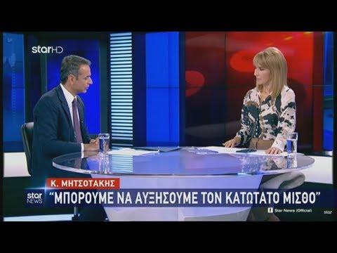 Συνέντευξη του Κυριάκου Μητσοτάκη στο STAR