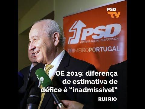 """OE 2019: diferença de estimativa de défice é """"inadmissível"""""""