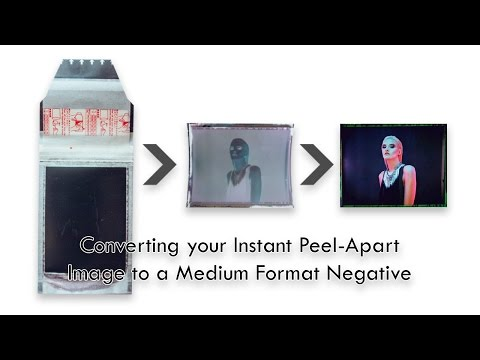 Converting your Instant Polaroid Print to a Negative
