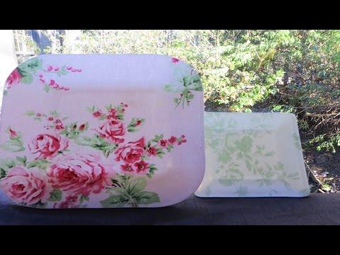 decoupage - decorazione con tessuto