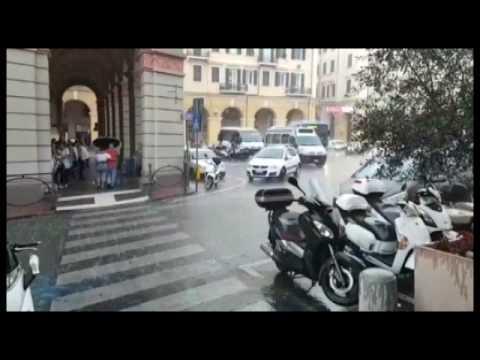 ONDATA DI MALTEMPO NELL'IMPERIESE: GRANDINE NELL'ENTROTERRA