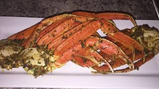 Oven roasted crab legs