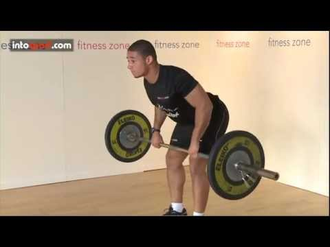 barbell - The Bent Over Row is an exercise that tones and strengthens the lattissimus dorsi, the largest muscle in your back. Watch the video carefully ascorrect techn...