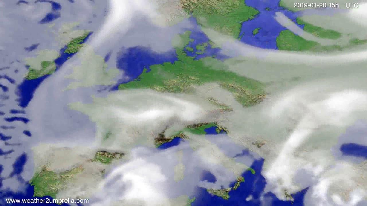 Cloud forecast Europe 2019-01-18