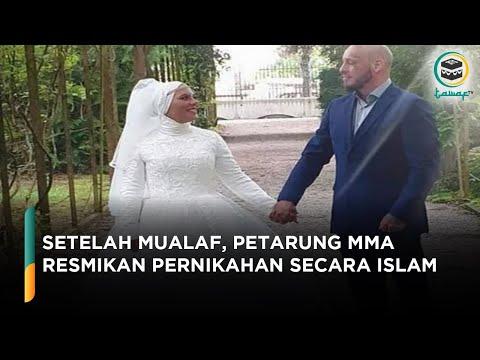 Jadi Mualaf, Petarung MMA Khalid Wilhelm Ott Ini Ulang Pernikahannya Secara Islam