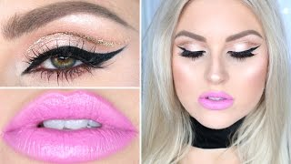 Drugstore & Affordable Makeup Tutorial ♡ Soft Glitter Cut Crease by Shaaanxo