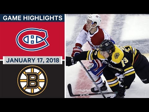 Video: NHL game in 4 minutes: Canadiens vs Bruins