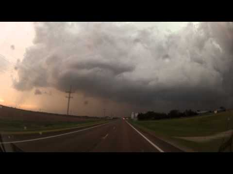 tornados - Two tornadoes touch down near the town of Rozel and Stanford Kansas on May 18th 2013.