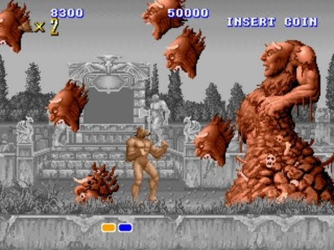 altered beast - arcade gameplay