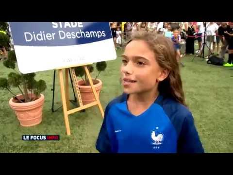 Événement : le stade de Cap d'Ail baptisé stade Didier Deschamps