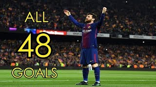 Download Video Lionel Messi ● All 48 Goals in 2017/18 ● Golden Boot Winner MP3 3GP MP4