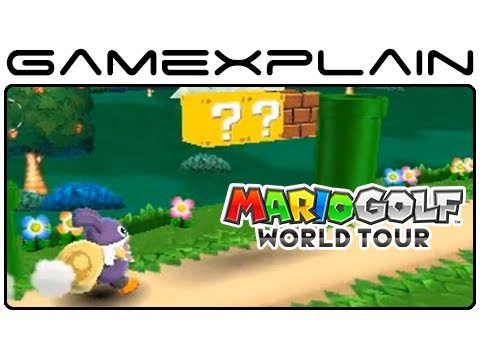 Mario - http://www.GameXplain.com Get a first-look at the DLC coming to Mario Golf: World Tour in this gameplay compilation from the Japanese website that shows off ...