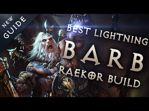 Best Barbarian Build & Gear: Lightning Raekor Barb - Diablo 3 Reaper of Souls Guide