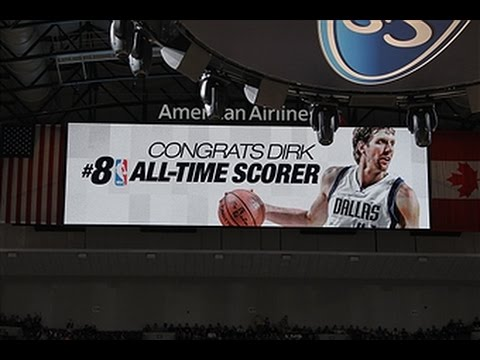 Video: Dirk Nowitzki Moves to 8th on the All-Time Scoring List