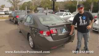 Autoline Preowned 2009 Acura TSX For Sale Used Walk Around Review Test Drive Jacksonville