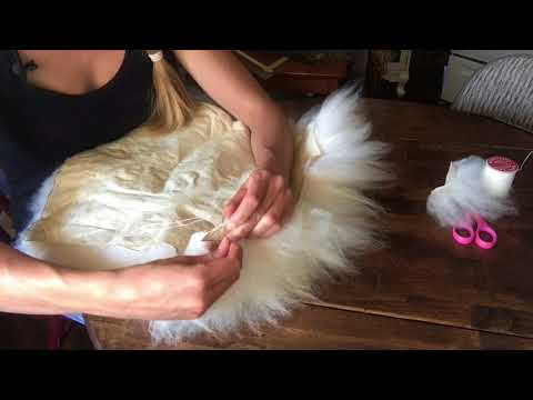How to Make a Sheepskin Pillow | Materials and Sheepskin Sewing Technique
