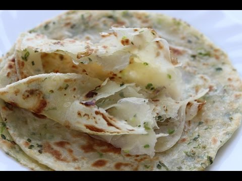 Green Onion Paratha/green Onion Pancake 蔥油餅 - Soft Layered-- Cooking A Dream