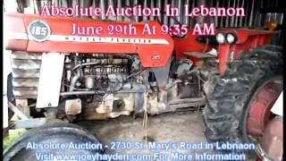 Joey Haydent Auction on June 29th in Lebanon