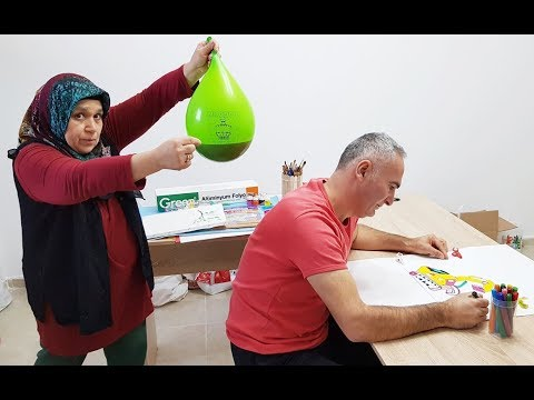 COCA Cola BALLOON in PRANK! ONLY BALLOON COCA COLA hair KEREM'İN JOKE