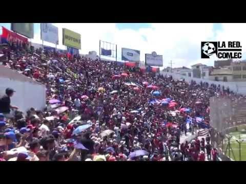 La hinchada del Quito se tomó el Bellavista - Mafia Azul Grana - Deportivo Quito