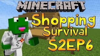 Minecraft: Shopping Survival S2E6 Going Shopping And Adding Small Details