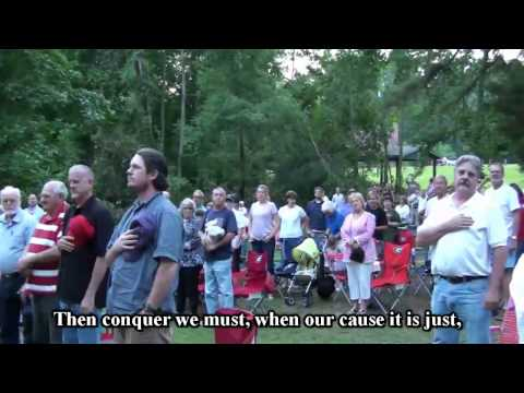 0 Tea Party   Star Spangled Banner 4th Verse clip   U S Marine Lewis Shaeffer
