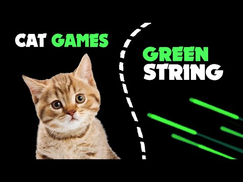 Green STRING STRING thing for cats | Cat Games on the screen