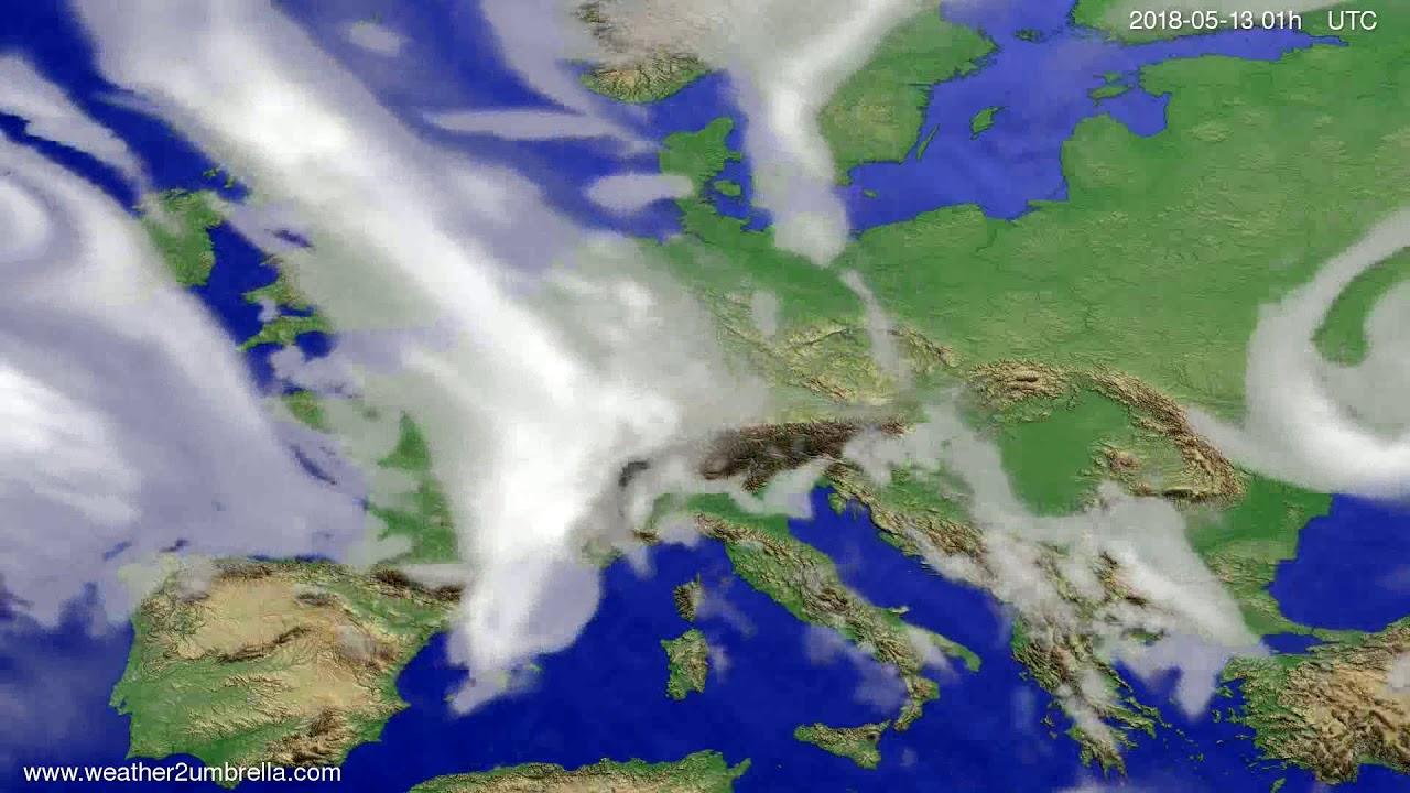 Cloud forecast Europe 2018-05-10