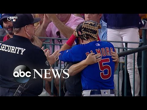 Cubs player in tears after foul ball hits young girl