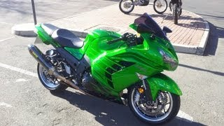 9. 2012 Kawasaki ZX14R (ZZR1400) Top Speed and Acceleration Test Ride Part 2