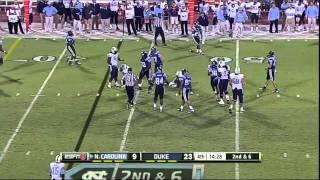 Bryn Renner vs Duke (2012)