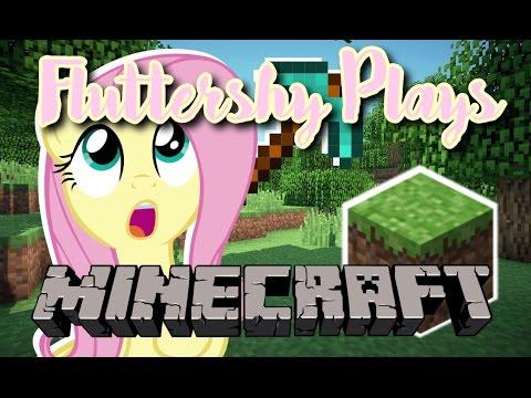 Fluttershy Plays: Minecraft (видео)