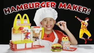 McDonald's HAMBURGER MAKER!!! Turn Peanut Butter into a HAMBURGER Snack!