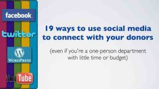 19 ways non-profits can use social media to connect with donors full download video download mp3 download music download