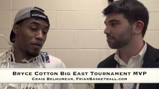 Craig Belhumeur with Bryce Cotton – Big East Tournament MVP