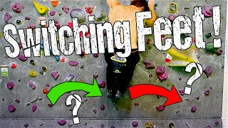 Rock Climbing Technique for Beginners : How to Switch Feet ! by Mani the Monkey